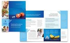 Dietitian Brochure Template Design by StockLayouts