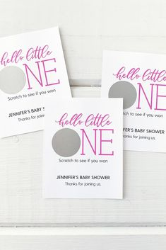 Baby Shower Scratch Offs Hello Little One Scratch Off Tickets, Scratch Off Cards, Shower Party, Baby Shower Parties, Off Game, Baby Sprinkle, First Baby, Personalized Baby, Auntie