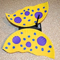 Tons of Free Crafts for Elementary School-Aged Kids: Paper Plate Butterfly