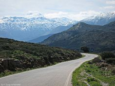 Dikti mountain in snow as seen from Upper Merabello. #Crete #Greece