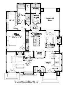 Craftsman Style House Plan - 4 Beds 3 Baths 3155 Sq/Ft Plan #928-245 - Dreamhomesource.com