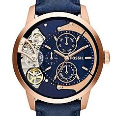 Townsman Multifunction Navy Leather Watch