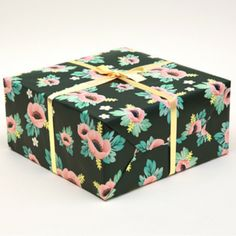 Anemone Wrapping Paper (Green) | Pretty Anemone flowers decorate this perfect shade of deep green paper | The Coconut Room | @thecoconutroom_