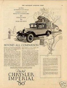 "Chrysler Imperial ""80"" Car (1926)"