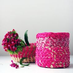 How to make a coiled raffia basket, bowl or vase. It's not as hard as you might think!