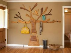 Coat hook shaped tree ideas for the house pinterest beehive