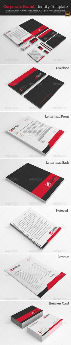 Corporate Brand Identity Template. - Stationery Print Templates | Download http://graphicriver.net/item/corporate-brand-identity-template/7099287?ref=themedevisers