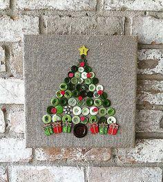 Kerstmis is net om de hoek yall! Fleuren uw huis dit vakantieseizoen met deze aangepaste gemaakte jute doek knop boom kunst.
