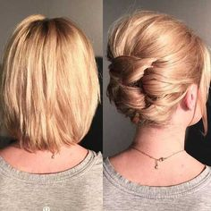 Short Hairstyles Updo