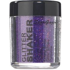 Stargazer Plush Violet Glitter Shaker, Body Glitter Cosmetics UK ($4.15) ❤ liked on Polyvore featuring beauty products and bath & body products