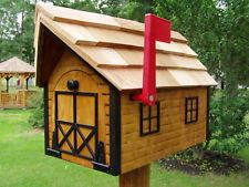Diy Log Cabin Mailbo Google Search Wooden Mailbox Lock
