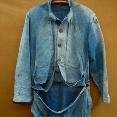French vintage indigo all in one #frenchvintage #indigo #workwear  #coverall