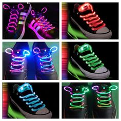 Light-Up,FREE GIFT, Led,Rave Laces for EDC,Ultra,Electric Daisy Festival , Rave Accessory, (2) Free Kandi Bead Bracelets W/  Purchase!!!! on Etsy, $7.99