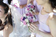 Lilac and purple bridesmaids bouquet #sunpetalsflorist