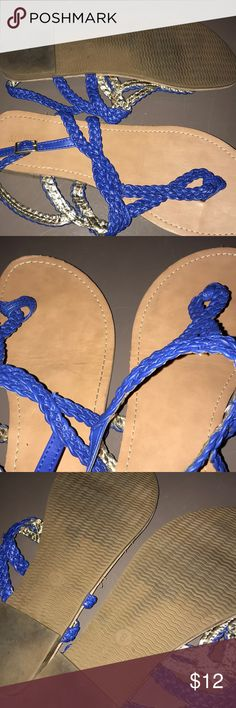 Blue Sandals size 8 Worn a few times. Overall good condition. Size 8. 12 obo Merona Shoes Sandals