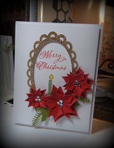 Shirley Ross the Rockin' HeART Stamper : Christmas Cards with a Glitter Flair