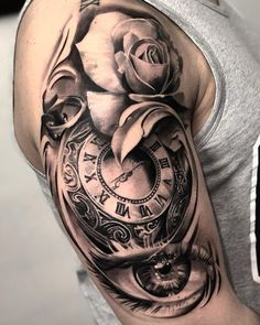 80 Clock Tattoo Designs For Men Timeless Ink Ideas Tats