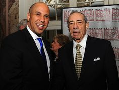 Mayor Cory Booker, Governor Mario Cuomo during the Help USA Tribute Awards Dinner, Honoring President Bill Clinton, Governor Mario Cuomo and Matilda Cuomo, held at the Waldorf Astoria in New York City, Tuesday, June 5, 2012.