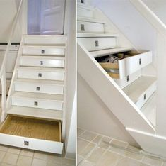 I'm not much on drawers, but this is a good use of space for common look stairs.