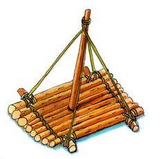 Floß aus Holz - Schritt 3