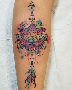 23 Inspiring Arrow Tattoo Ideas: #23. WATERCOLOR ARROW DESIGN; #arrowtattoo; #tattoos