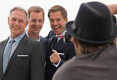 Mark Harmon, Sean Murray, and Michael Weatherly...