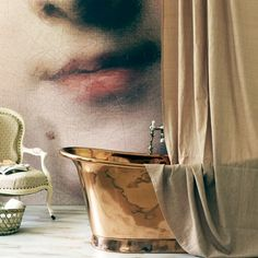 100 Beautiful Bathrooms With A Copper Tub - Style Estate - Copper Tub, Copper Kitchen, Copper Roll, Turbulence Deco, Classic Portraits, Deco Boheme, Boho Home, Piece A Vivre, Top Interior Designers
