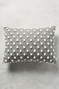 Pom Pom Grey Pillow
