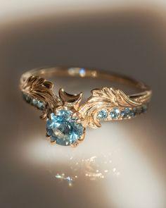 Cute Rings, Pretty Rings, Unique Rings, Beautiful Rings, Unique Wedding Rings, Blue Wedding Rings, Unique Vintage Rings, Non Diamond Wedding Rings, Boho Wedding Ring
