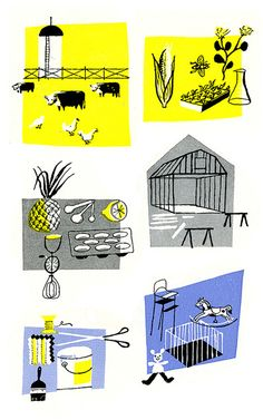 Illustrations from Successful Farming Magazine 1950s