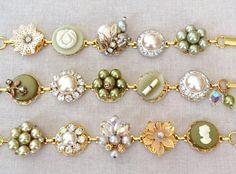 sage bracelets by chicmaddiesboutique | via Sage Wedding Ideas from…