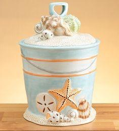Beach style cookie jar