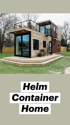 Building A Small House, Building A Container Home, Container Buildings, Container House Plans, Container House Design, Tiny House Design, Container Homes, Tiny Cabins, Tiny House Cabin