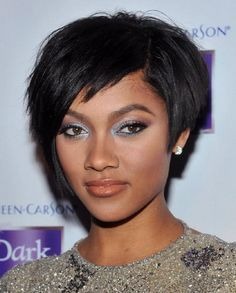 Cute and trendy black women hair are merely in short hairstyles ...
