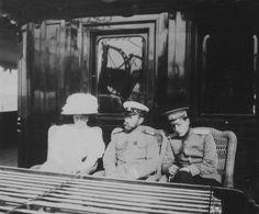 Alix, Nicky and Grand Duke Dimitri Pavlovich