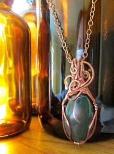 Purifying Bloodstone Necklace on Etsy, $34.50