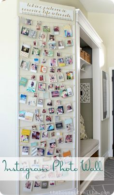 Instagram photo wall display idea.