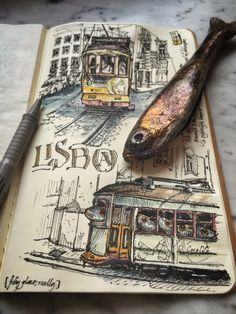 Sketch inspiration, urban sketching, travel journal pages, art journal page Art Journal Pages, Travel Journal Pages, Artist Journal, Travel Journals, Art Journals, Visual Journals, Voyage Sketchbook, Travel Sketchbook, Arte Sketchbook