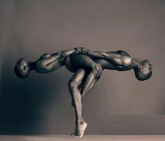 Epic photo where He supports them both, but she gives them balance. The dancers are Dwana Smallwood and Matthew Rushing. The photographer, the brilliant Howard Schatz from his book Passion and Line. Circa (1996). #art