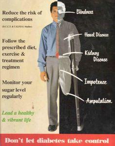 Glukosa yang terlalu tinggi dalam darah pesakit Diabetes seterusnya boleh merosakkan saluran darah!!....ini sangat bahaya kerana ia membawa kepada komplikasi lain seperti PENYAKIT JANTUNG,KEROSAKAN BUAH PINGGANG,KEROSAKAN SARAF,KEROSAKAN MATA (seperti rabun dan buta),MATI PUCUK dan ANGIN AHMAR!!!...sebab itulah Diabetes sangat bahaya
