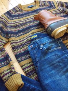 OOTD Sweater: Land's End  |  Jeans: Rugby Ralph Lauren  |  Boots: L.L. Bean Boots