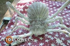 Ramblings About Halloween and Papier Mache Creepy Halloween Props, Halloween Spider, Halloween Art, Spider Decorations, Maleficent, Crafts To Do, Harry Potter, Spiders, Animals