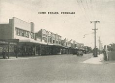 Como Parade, Parkdale, 1955 Melbourne Suburbs, Young Farmers, Melbourne Victoria, Post Office, Old Photos, Photographs, Scene, In This Moment, History