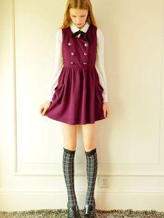 valerie vest dress $77 #asianicandy #kawaii #japanese #kstyle #asianfashion #sweet #style