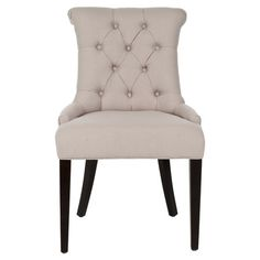 Perfect pulled up to your dining table or writing desk, this birch-framed side chair showcases a scrolled back and diamond-tufted upholstery.   ...