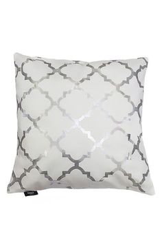 kensie 'Holly' Metallic Lattice Print Pillow available at #Nordstrom