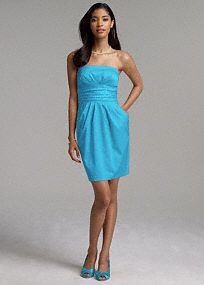Simple strapless option- cotton dress, would get in Marine
