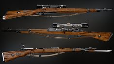 My version of the kar 98 sniper rifle with bayonet variant. All textured using single 4k map and rendered in marmoset 2.
