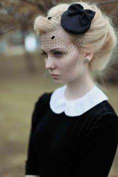 fascinator, pale face, princess collar