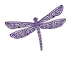 Tribal Dragonfly Tattoo
